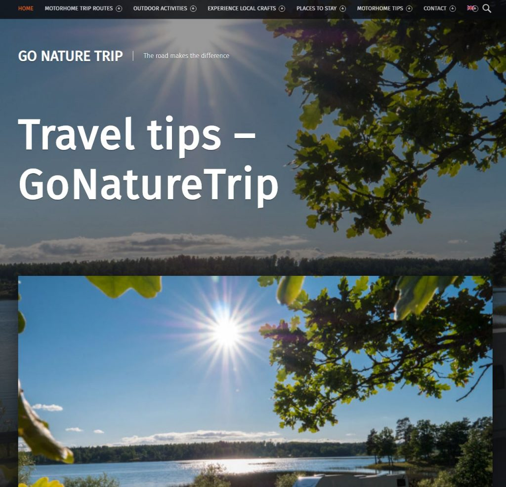 Gonaturetrip website nature travel