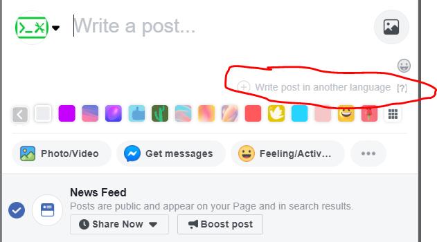 facebook post manuell översättning